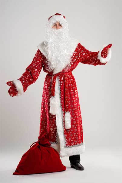 Дед Мороз с мешком для подарков.