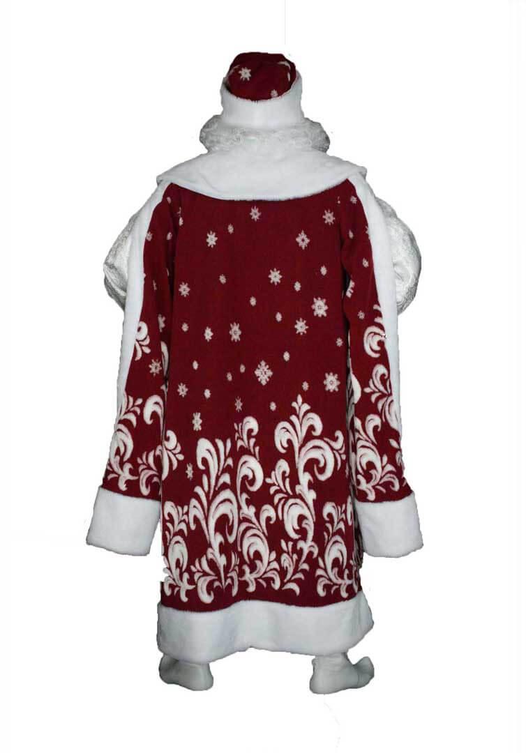Боярский костюм Деда Мороза вид сзади.